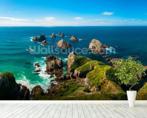 Nugget Point View wallpaper mural room setting