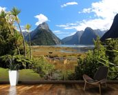 Milford Sound View wallpaper mural kitchen preview