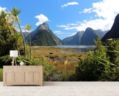 Milford Sound View wallpaper mural living room preview