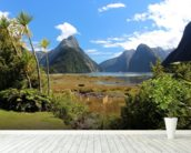Milford Sound View wallpaper mural in-room view