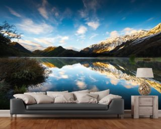Moke Lake Sunrise wall mural