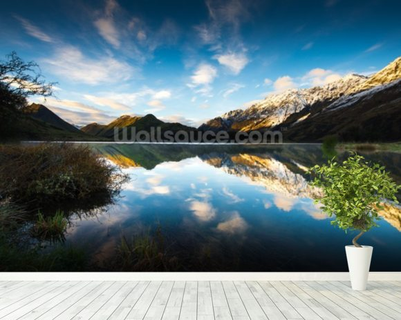 Moke Lake Sunrise wall mural room setting