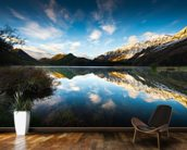 Moke Lake Sunrise wall mural kitchen preview