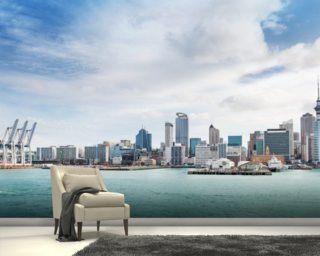 Auckland Harbour wallpaper mural