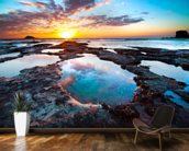 Maori Bay Sunset wall mural kitchen preview