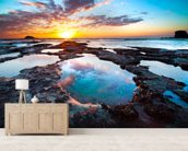 Maori Bay Sunset wall mural living room preview