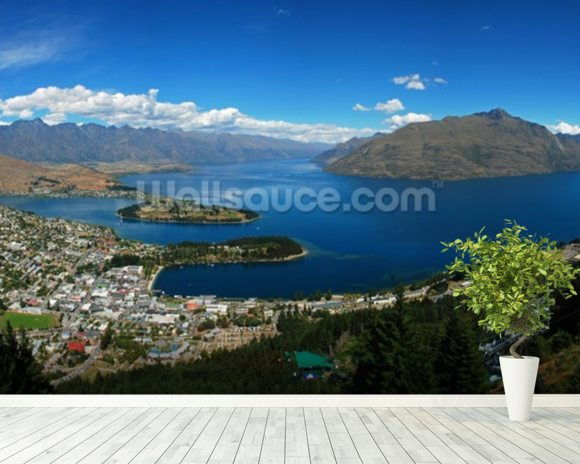 Queenstown Panorama mural wallpaper room setting