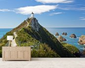 Nugget Point mural wallpaper living room preview