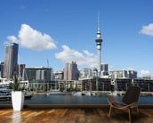 Auckland Cityscape wall mural kitchen preview