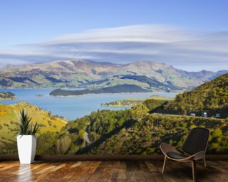 Banks Peninsula mural wallpaper