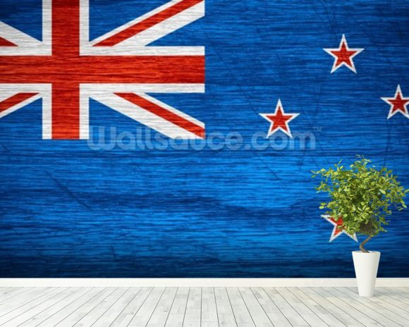 New Zealand Flag wall mural room setting