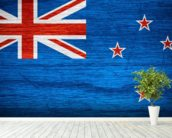 New Zealand Flag wall mural in-room view