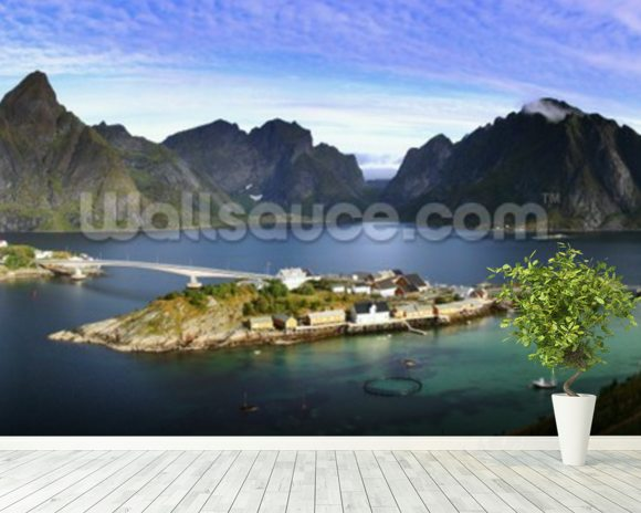 Lofoten Islands View wallpaper mural room setting