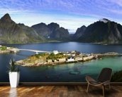Lofoten Islands View wallpaper mural kitchen preview