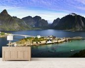 Lofoten Islands View wallpaper mural living room preview
