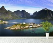 Lofoten Islands View wallpaper mural in-room view