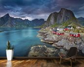 Norweigan Landscape mural wallpaper kitchen preview