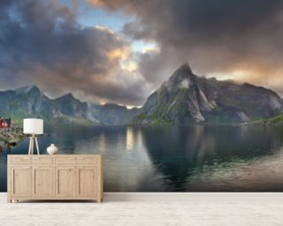 Lofoten Islands Panorama mural wallpaper