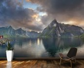 Lofoten Islands Panorama mural wallpaper kitchen preview
