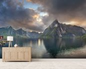 Lofoten Islands Panorama mural wallpaper living room preview
