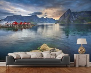 Lofoten Islands Scenery wall mural