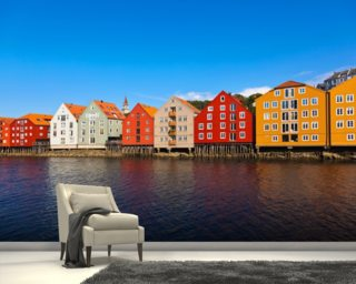 Trondheim Waterfront wallpaper mural