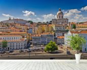 Beautiful Lisbon wall mural in-room view