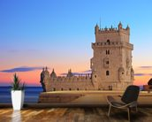 Lisbon - Tower of Belem at Sunset mural wallpaper kitchen preview