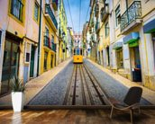 Lisbon Old Town and Tram wall mural kitchen preview