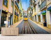 Lisbon Old Town and Tram wall mural living room preview