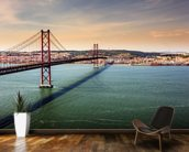 Lisbon, Bridge of 25th of April wallpaper mural kitchen preview