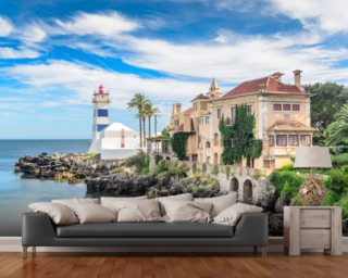 Cove and Lighthouse wall mural