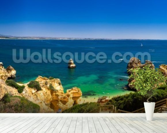 Algarve View wallpaper mural room setting