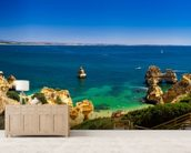 Algarve View wallpaper mural living room preview