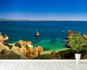 Algarve View wallpaper mural in-room view
