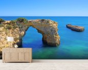 Algarve Beach - Arch mural wallpaper living room preview