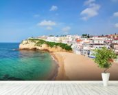 Algarve - Carvoeiro Beach wallpaper mural in-room view