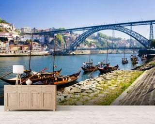 Porto, Dom Luis Bridge mural wallpaper
