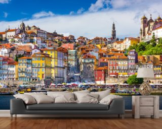 Colourful Historic Porto wall mural