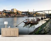 River Douro, Porto mural wallpaper living room preview