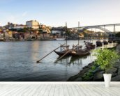 River Douro, Porto mural wallpaper in-room view