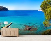 Idyllic Mallorca Sea View wallpaper mural living room preview