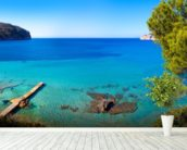 Idyllic Mallorca Sea View wallpaper mural in-room view