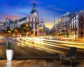 Madrid at Night mural wallpaper kitchen preview