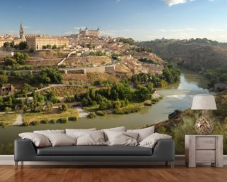 View of Toledo wall mural