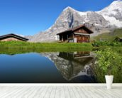 Eiger View wall mural in-room view
