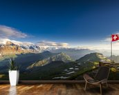 Swiss Alps mural wallpaper kitchen preview