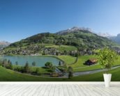 Engelberg wallpaper mural in-room view