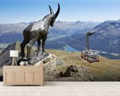 Piz Nair St.Moritz wall mural living room preview