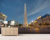 The Obelisk, Buenos Aires. mural wallpaper living room preview